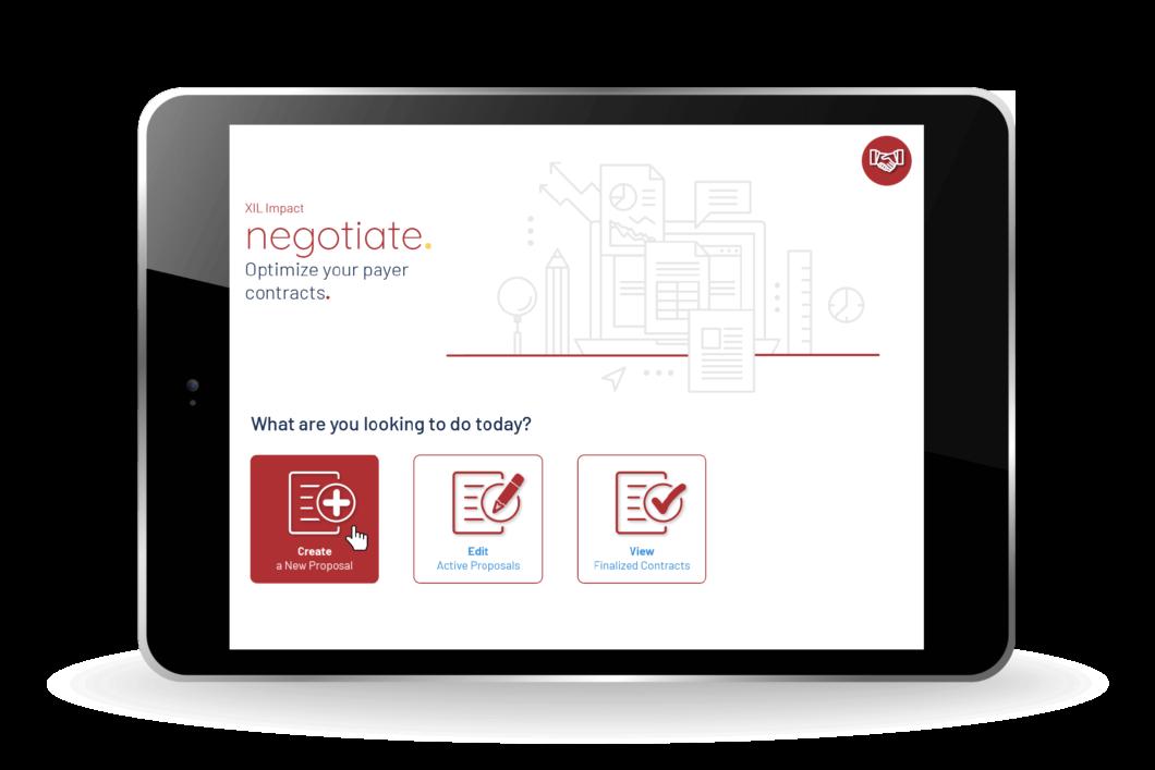 XIL Impact Negotiate iPad Screen